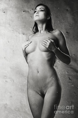 Photograph - Photograph Beautiful Nude Woman Vintage Look #6304v by William Langeveld