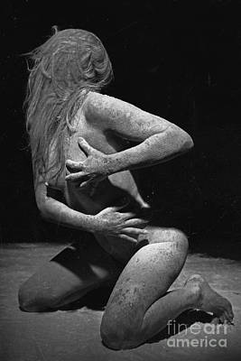 Photograph - Photograph Nude Beauty Covered With Dust #0846e by William Langeveld