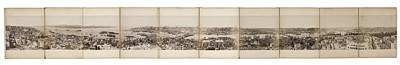 Photograph Panorama Of Constantinople Art Print by Eastern Accents