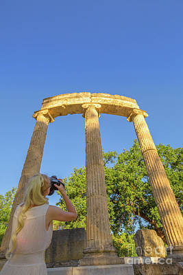 Photograph - Photographer At Ancient Olympia by Benny Marty