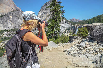 Photograph - Photographer In Yosemite Waterfalls by Benny Marty