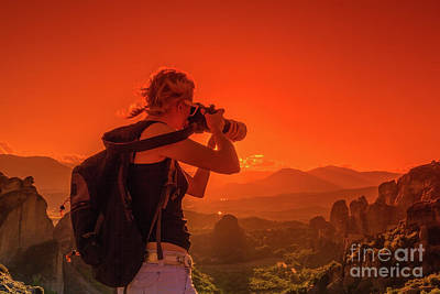 Photograph - Photographer Monasteries Meteora by Benny Marty
