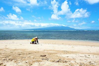 Photograph - Photographer On Beach by Joe Belanger
