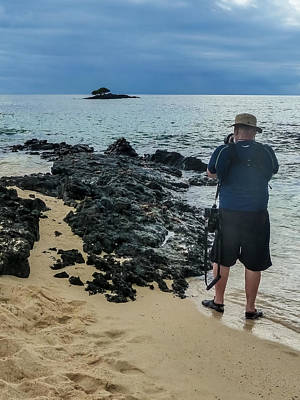Photograph - Photographer On Rabida Coastline by Harry Strharsky