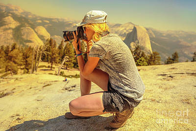 Photograph - Photographer On Sentinel Dome by Benny Marty