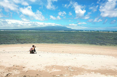 Photograph - Photographer On Tropical Beach by Joe Belanger