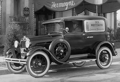 Ford Model A Photograph - Photographer's 1928 Truck by Underwood Archives