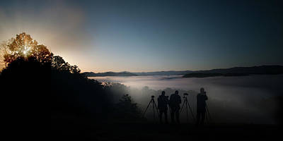 Photograph - Photographers Lined Up And Ready For Sunrise by Dan Friend