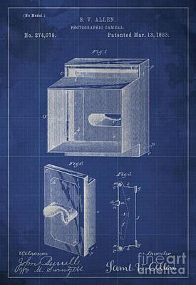 Photographic Camera Patent Year 1883 Art Print