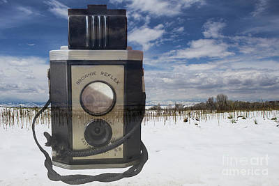 Photograph - Photographing A Snowy Scene by Steven Parker