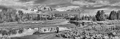 Photograph - Photographing Schwabacher Landing Black And White by Adam Jewell
