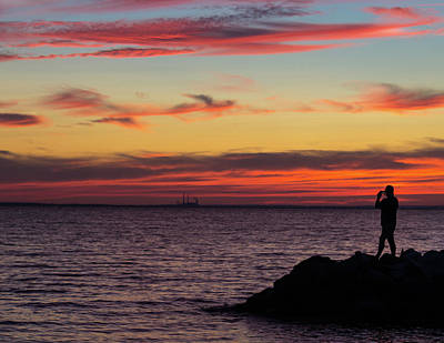 Photograph - Photographing The Sunset by Steve Atkinson