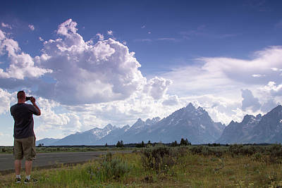Photograph - Photographing The Tetons by Dawn Romine