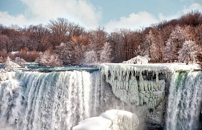 Photograph - Niagara Winter by Gouzel -