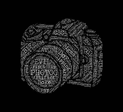 Photography Slang Word Cloud Art Print