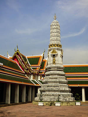 Photograph - Phra Prang Tower At Wat Pho Temple by Helissa Grundemann