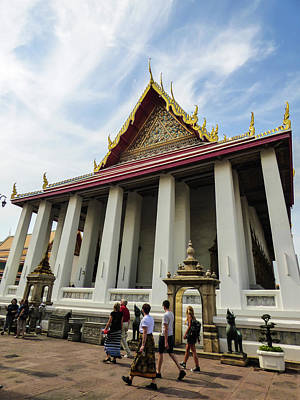 Photograph - Phra Ubosot At Wat Pho Temple by Helissa Grundemann