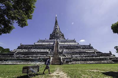 Ayutthaya Photograph - Phu Khao Thong Temple by Dylan Newstead