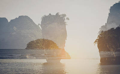 Photograph - Phuket James Bond Island Phang Nga With Vintage Instagram Style  by Brandon Bourdages