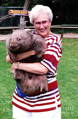 Photograph - Phyllis Holding Thirty Lb Wombat Australia by Phyllis Kaltenbach
