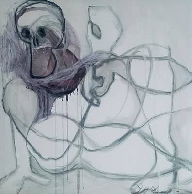 Drawing - Physical Integrity Beneath by Helen Syron