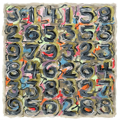 Painting - Pi Grid by Stan  Magnan