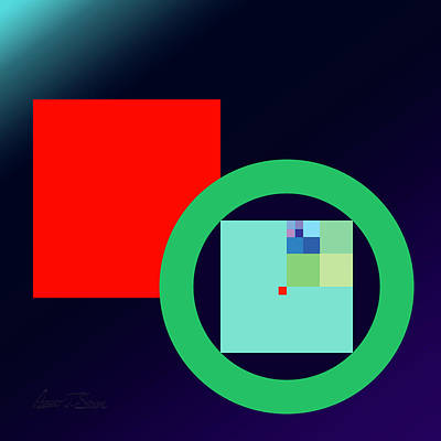 Digital Art - Pi R Square Two by Robert J Sadler