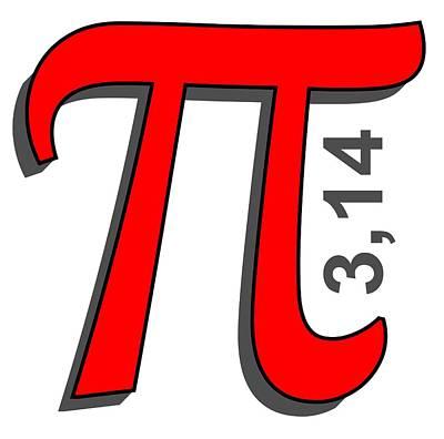 Pi Drawing - Pi Symbol by Ozdilh Design