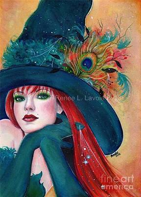 Witch Painting - Pia Dora by Renee Lavoie