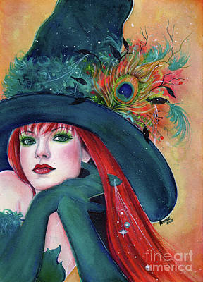 Witches Painting - Pia Dora Witch by Renee Lavoie