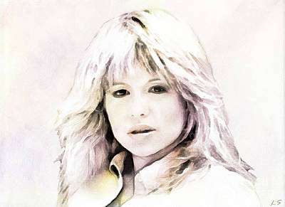 Drawing - Pia Zadora by Sergey Lukashin
