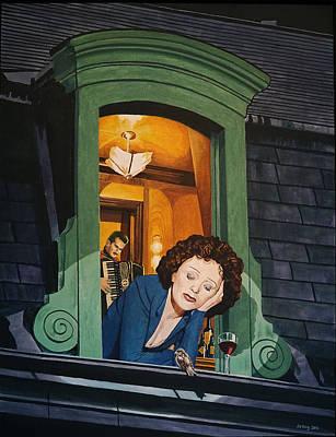 Piaf Art Print by Jo King