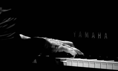 Piano Photograph - Pianist - Black And White by Tianxin Zheng