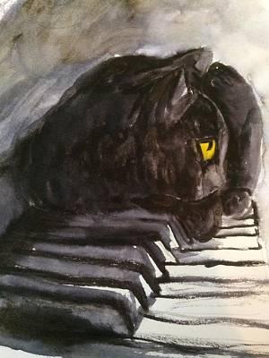 Jenna Thomas Wall Art - Painting - Pianist by Jennifer Thomas