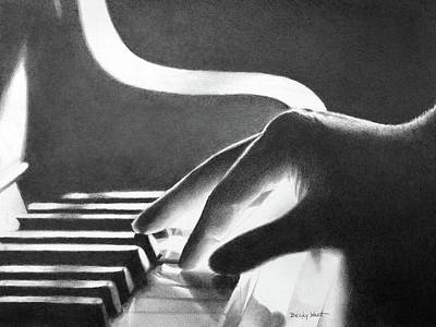 Drawing - Pianist's Hand by Becky West