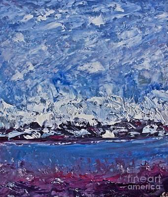 Pallet Knife Painting - Piankatank  Snowstorm by Tim Lent