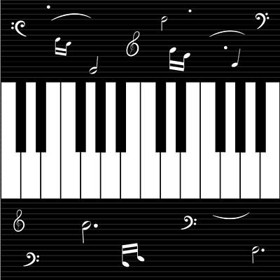 Digital Art - Piano And Music Background by Serena King