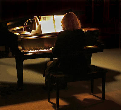 Photograph - Piano And The Red Head by Wes and Dotty Weber