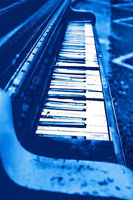 Photograph - Piano Blue by Paulette Maffucci