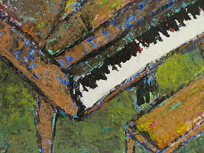 Painting - Piano Close Up 1 by Anita Burgermeister