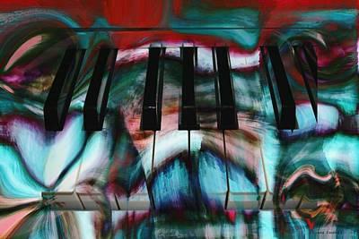 Piano Colors Art Print by Linda Sannuti