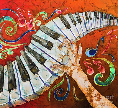 Music Studio Painting - Piano Crazy Fingers - Special 3  by Sue Duda