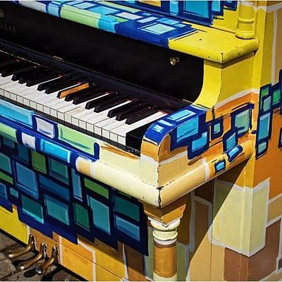Piano Photograph - Piano De Rue / Street Piano  #piano by Jean Morin