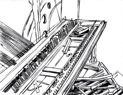 Mindful Drawing - Piano Drawing 3 by Chad Glass