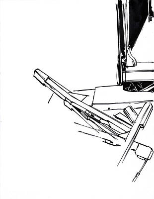 Mindful Drawing - Piano Drawing 4 by Chad Glass