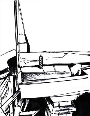 Mindful Drawing - Piano Drawing 5 by Chad Glass