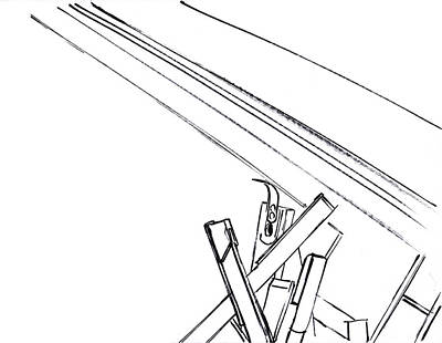 Mindful Drawing - Piano Drawing 8 by Chad Glass