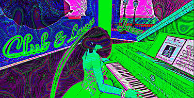 Secondlife Wall Art - Digital Art - Piano Girl Created With Sl by Nancy Forever