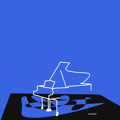 Piano In Blue Art Print by David Bridburg