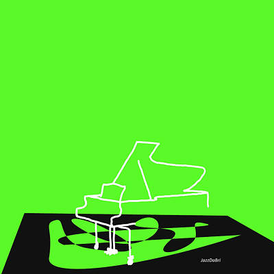 Digital Art - Piano In Green by David Bridburg